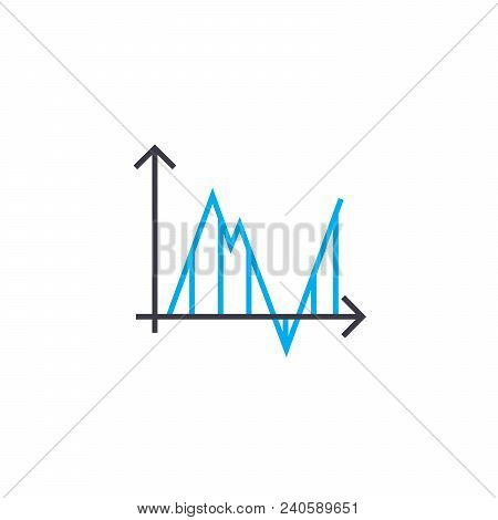 Time Frame Analysis Vector Thin Line Stroke Icon. Time Frame Analysis Outline Illustration, Linear S