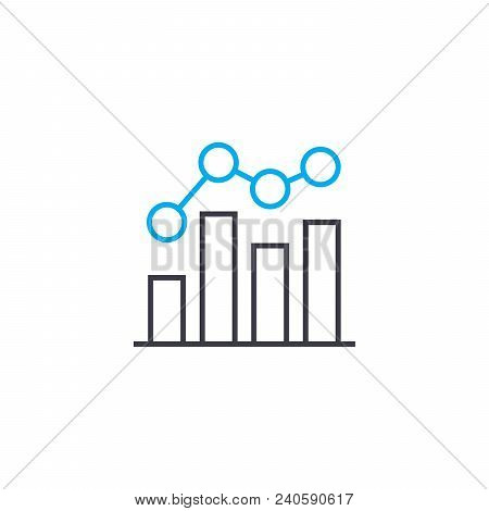 Unstable Growth Vector Thin Line Stroke Icon. Unstable Growth Outline Illustration, Linear Sign, Sym