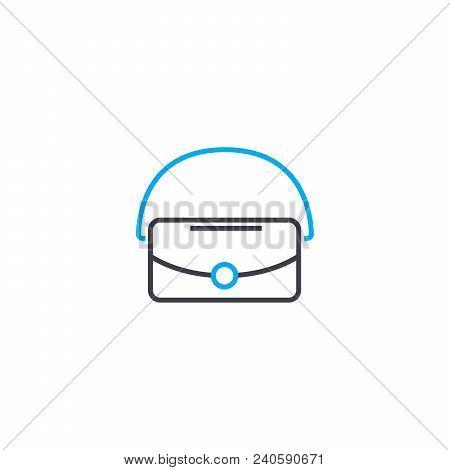 Vanity Bag Vector Thin Line Stroke Icon. Vanity Bag Outline Illustration, Linear Sign, Symbol Isolat