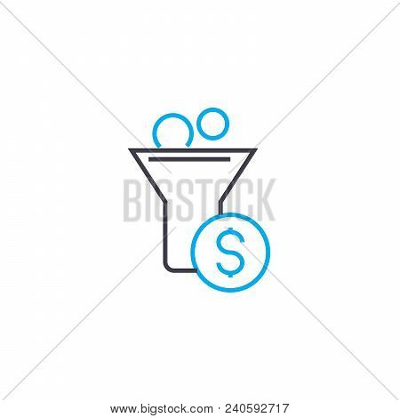 Cash Inflow 83 Vector Thin Line Stroke Icon. Cash Inflow 83 Outline Illustration, Linear Sign, Symbo