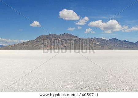 Across the Bonneville Salt Flats