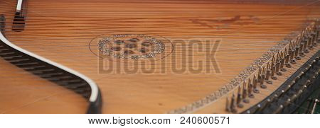 Bandura Close Up, Ukrainian Musical Instrument. Ukrainian Folk Musical Instrument - Bandura, Decorat