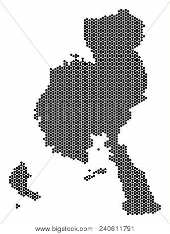 Honeycomb Veraguas Province Map. Vector Territory Plan On A White Background. Abstract Veraguas Prov