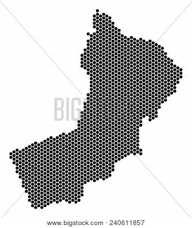 Hexagon Yemen Map. Vector Geographic Scheme On A White Background. Abstract Yemen Map Mosaic Is Done