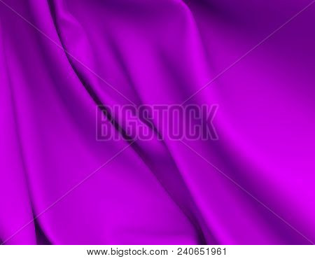 Beautiful Purple Silk. Drapery Textile Background. Abstract Soft Elegant Pink Satin