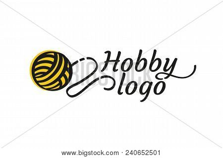 Illustration Design Of Logotype Woman Hobby Flat Symbol. Tangle And Spokes Web Icon