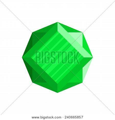 Shining Diamond Icon. Flat Illustration Of Shining Diamond Vector Icon For Web.