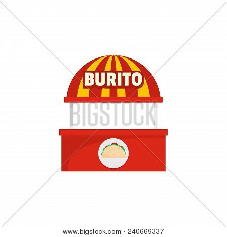 Burito Selling Icon. Flat Illustration Of Burito Selling Vector Icon For Web.