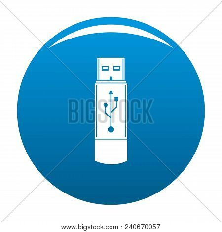 Portable Flash Drive Icon. Simple Illustration Of Portable Flash Drive Vector Icon For Any Design Bl