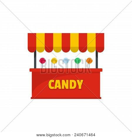 Candy Selling Icon. Flat Illustration Of Candy Selling Candy Selling Vector Icon For Web.