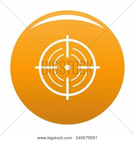 Rear Sight Icon. Simple Illustration Of Rear Sight Vector Icon For Any Design Orange