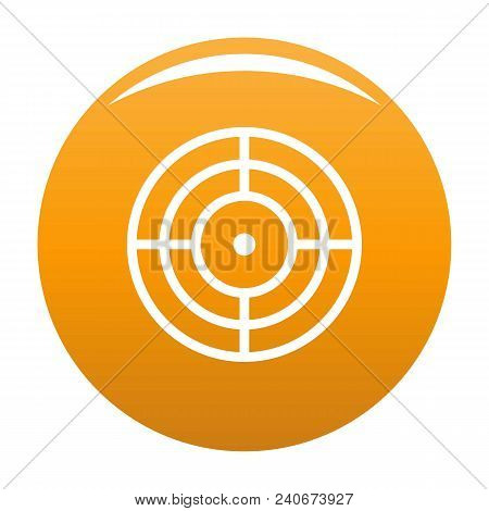Objective Of Target Icon. Simple Illustration Of Objective Of Target Vector Icon For Any Design Oran