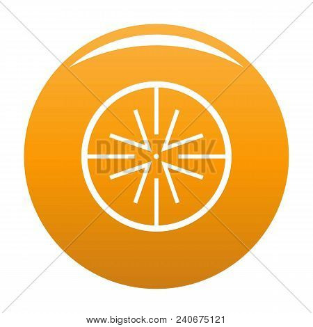 Center Target Icon. Simple Illustration Of Center Target Vector Icon For Any Design Orange