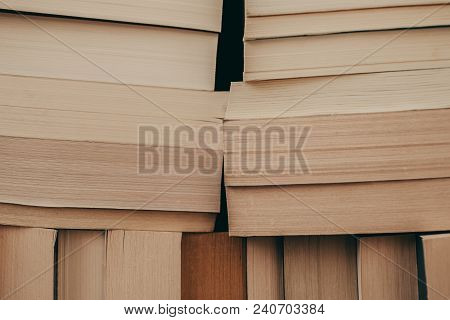 Books Background. Old Vintage Books Background. Education And Knowledge, Learn, Study And Wisdom Con
