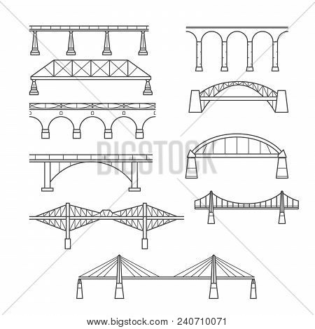 Types Bridges Linear Vector Photo Free Trial Bigstock
