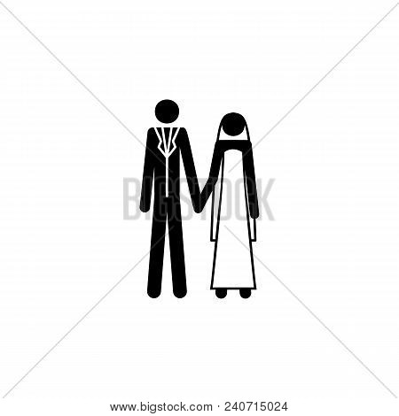 Newlyweds Icon. Element Of Life Married People Illustration. Premium Quality Graphic Design Icon. Si