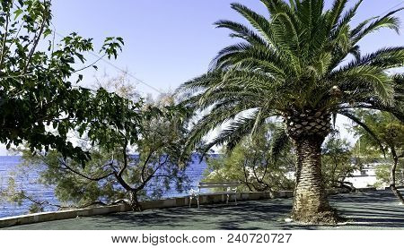 Path On The Croatian Coast With Adriatic Sea In Background - Podgora, Makarska Riviera, Dalmatia, Cr