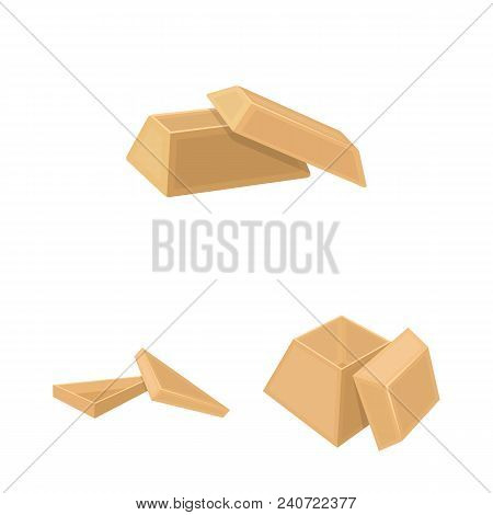 Different Boxes Cartoon Icons In Set Collection For Design.packing Box Vector Symbol Stock  Illustra