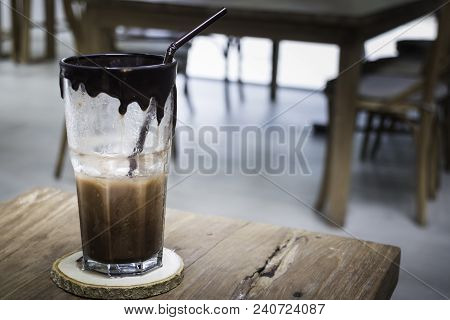 Craft Melted Chocolate Delicious Drink, Stock Photo