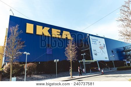 March 20th, 2018, Ballymun, Dublin, Ireland - Ikea Dublin Store. Ikea Is The Worlds Largest Furnitur