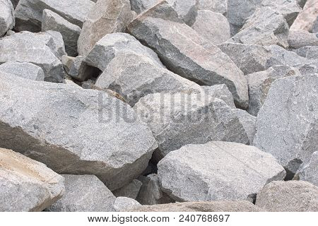 Pile Of Large Stones. Pile Of Rocks