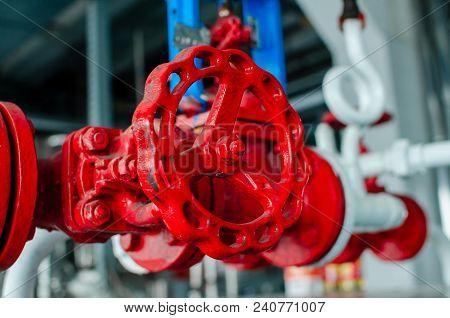 Crane. Hermetic Pipeline Valve. Valve. Red. Water Shutoff Valve. Texture