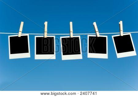 Photographs On A Clotheline