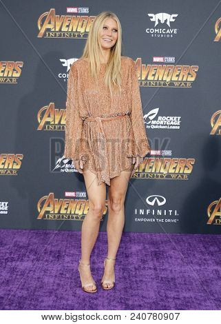 Gwyneth Paltrow at the premiere of Disney and Marvel's 'Avengers: Infinity War' held at the El Capitan Theatre in Hollywood, USA on April 23, 2018.