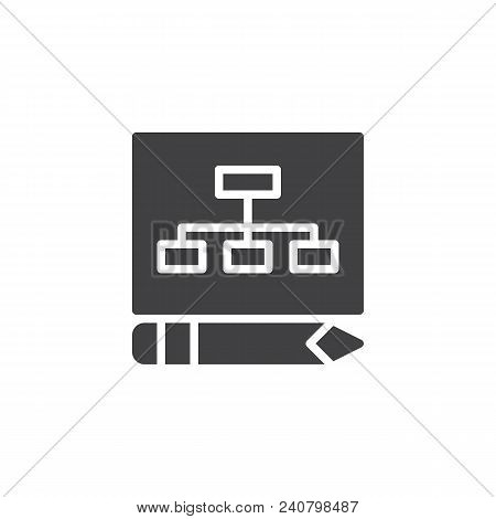 Business Plan Vector Icon. Filled Flat Sign For Mobile Concept And Web Design. Planning Simple Solid