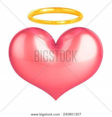 Heart Of Angel Pink Love Symbol