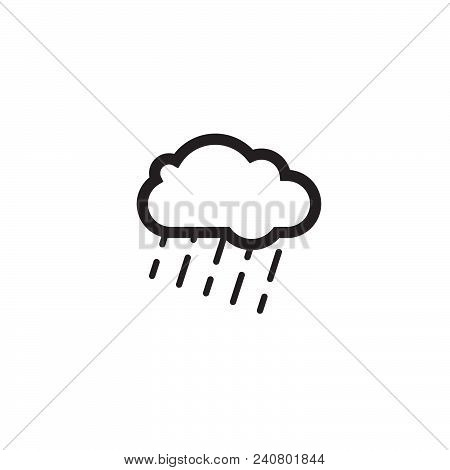 Rain Cloud Flat Icon Vector Isolated On White Background. Rain Cloud Flat Icon Vector Illustration,