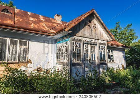 Desolate Cottage In Small Village In Zalischyky Region, Ukraine