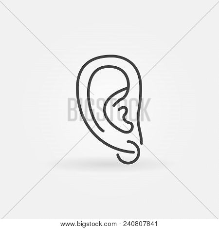 Ear Piercing Icon - Vector Minimal Symbol Or Design Element In Thin Line Style