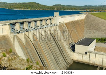 Energy Dam At A Lake