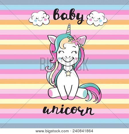 Cute Baby Unicorn And Inscription Baby Unicorn