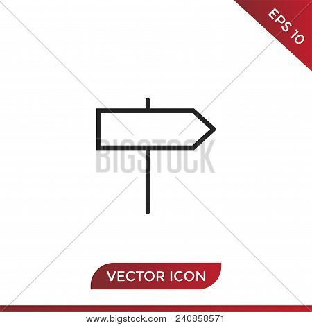 Signpost Vector Icon Flat Style Illustration For Web, Mobile, Logo, Application And Graphic Design.