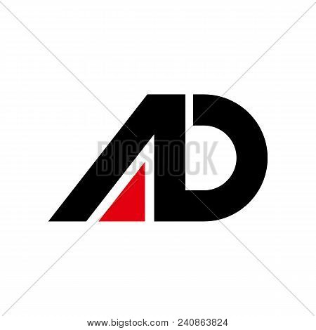 Creative Letter Ad Logo Design Black And Red Logo Elements. Simple Letter Ab Letter Logo,business Co