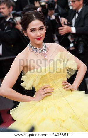 CANNES, FRANCE - MAY 13: Araya A. Hargate attends the screening of 'Sink Or Swim (Le Grand Bain)' during the 71st annual Cannes Film Festival at Palais des Festivals on May 13, 2018 in Cannes, France.