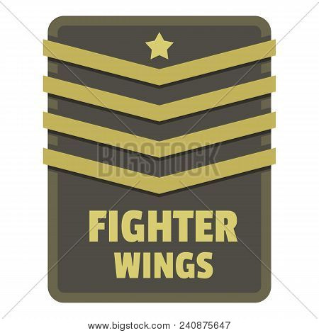 Fighter Wings Icon Logo. Flat Illustration Of Fighter Wings Vector Icon Logo For Web Design Isolated