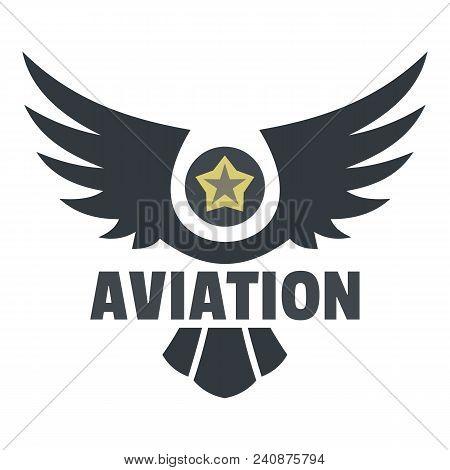 Aviation Icon Logo. Flat Illustration Of Aviation Vector Icon Logo For Web Design Isolated On White