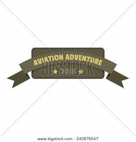 Aviation Adventure 2018 Icon Logo. Flat Illustration Of Aviation Adventure 2018 Vector Icon Logo For