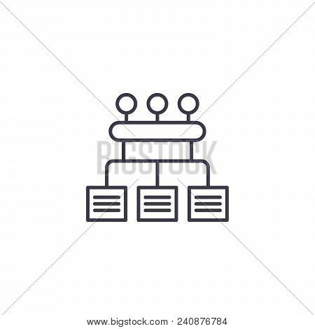 Organization Configuration Line Icon, Vector Illustration. Organization Configuration Linear Concept