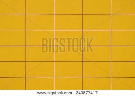 Texture Yellow Squares. Yellow Squares Separated By A Black Line