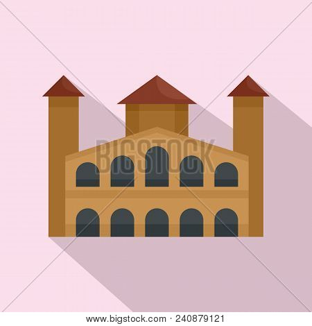 Hystorical Building Icon. Flat Illustration Of Hystorical Building Vector Icon For Web Design