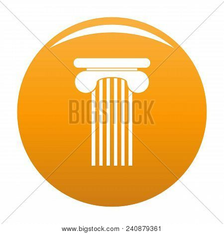 Top Column Icon. Simple Illustration Of Top Column Vector Icon For Any Design Orange