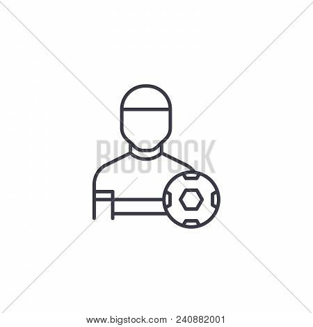 Physical Training Line Icon, Vector Illustration. Physical Training Linear Concept Sign.