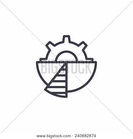 Pinion Line Icon, Vector Illustration. Pinion Linear Concept Sign.