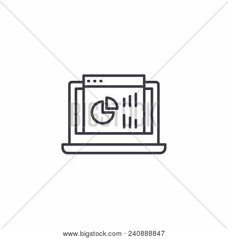 Project Dashboard Line Icon, Vector Illustration. Project Dashboard Linear Concept Sign.