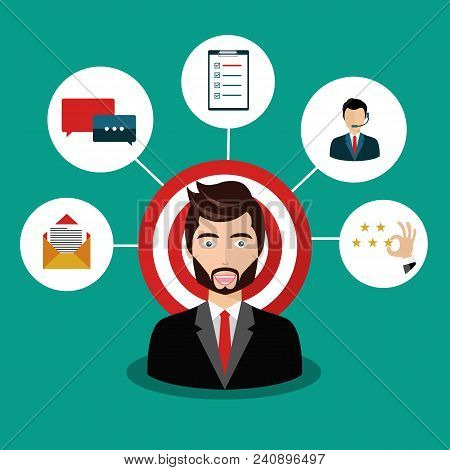 Male Presenting Customer Relationship Management. System For Managing Interactions With Current And