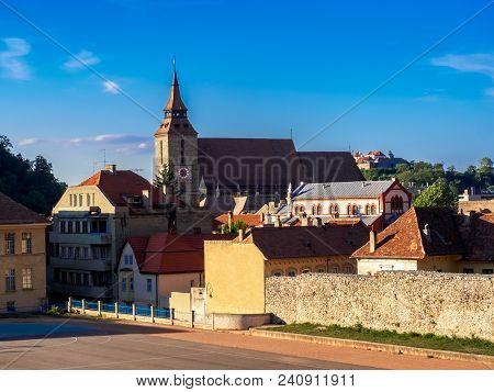 Cityscape Of Brasov, Black Church Architecture, Transylvania Region, Romania